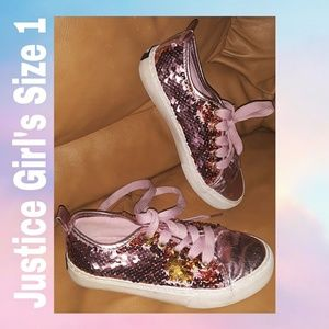Justice Sneakers | Size 1 | girls | Pink